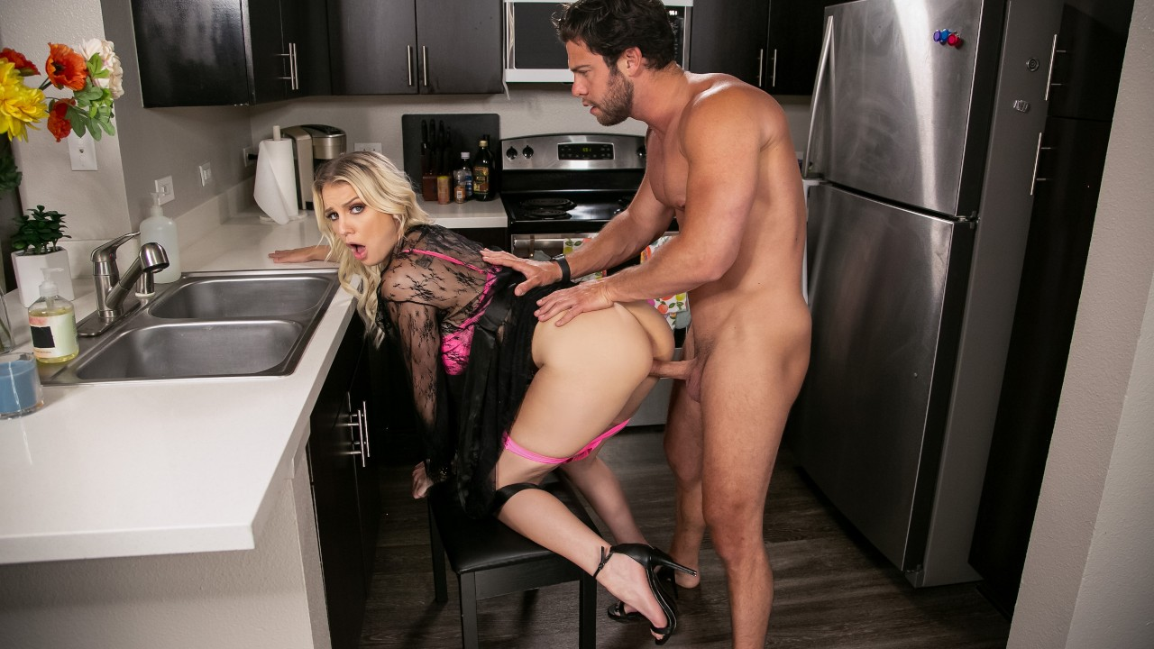 brazzers Kenzie Chooses Dick Over Dishes